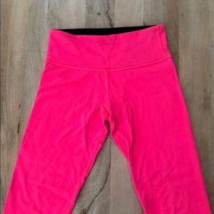 Lululemon Wunder Under Crop Neon Pink